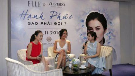 Shiseido tổ chức buổi chia sẻ: Hạnh phúc sao phải đợi?