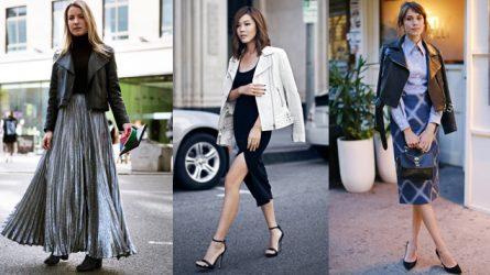 14 cách phối đồ thời thượng cùng áo da nữ
