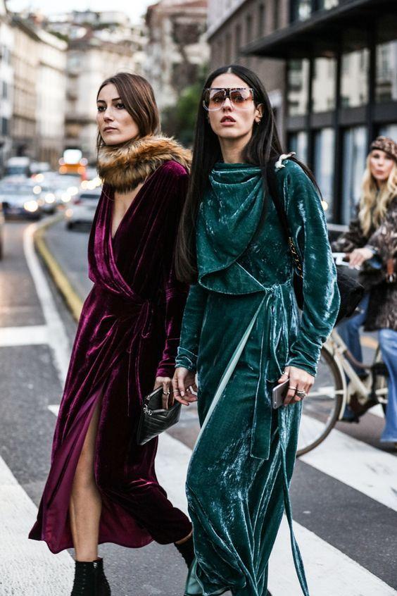 Vải nhung: Thời trang mùa lạnh