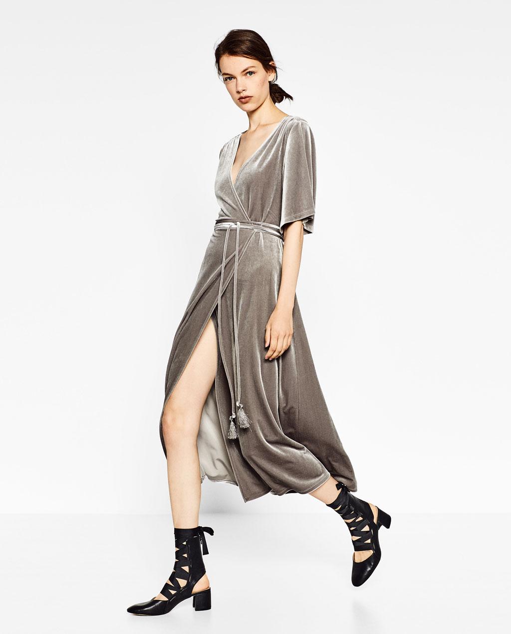 Vải nhung Zara