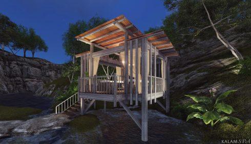 Jungle Spa ẩn mình giữa khu rừng nhiệt đới xanh ngát.