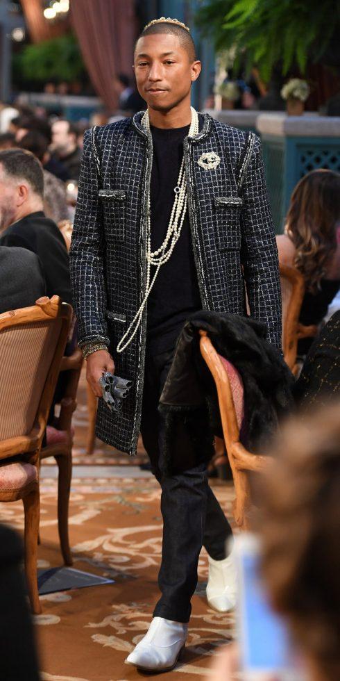 Pharrell Williams cũng góp mặt trong dàn người mẫu hôm qua