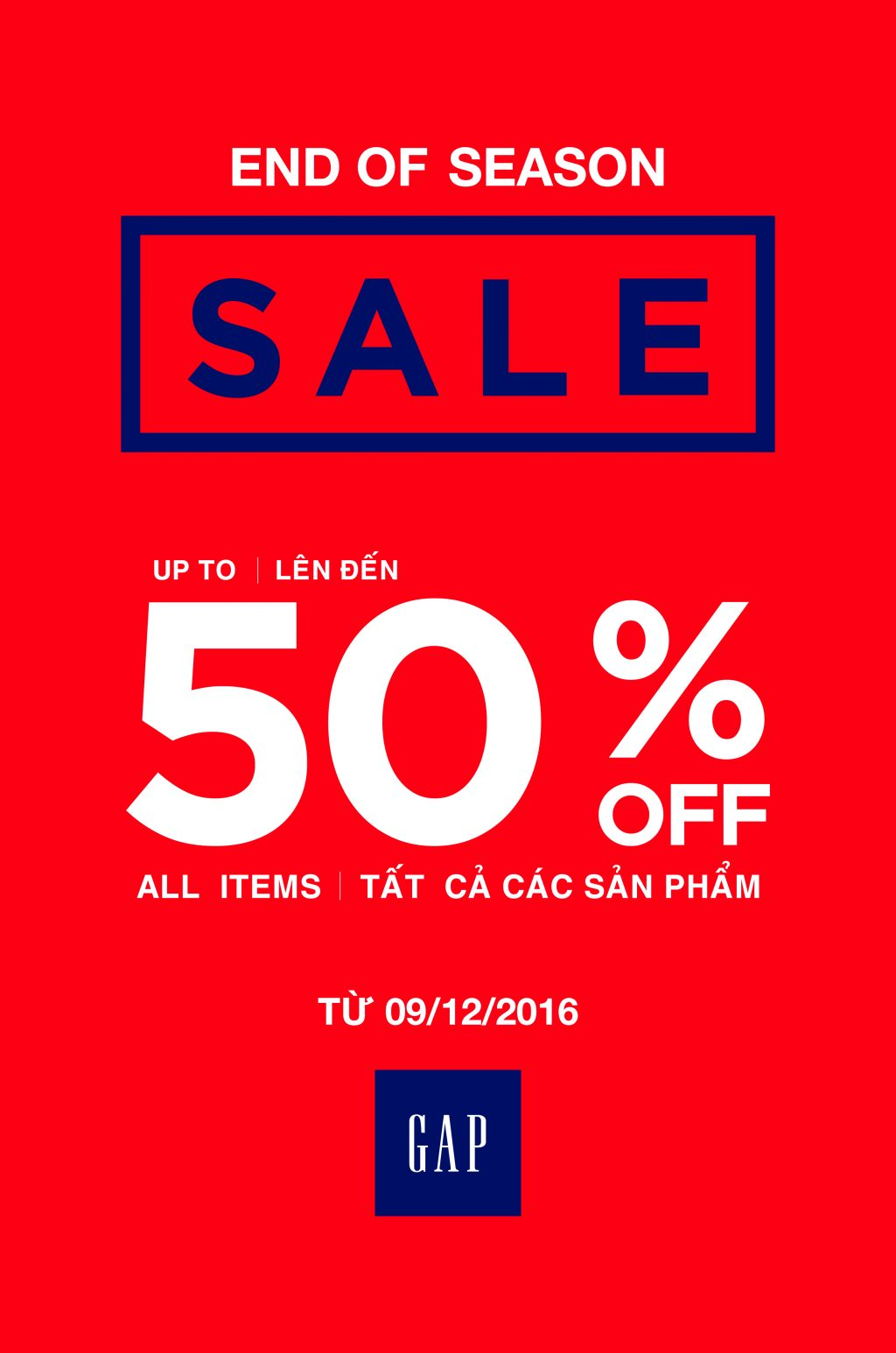GAP - End Of Season Sale