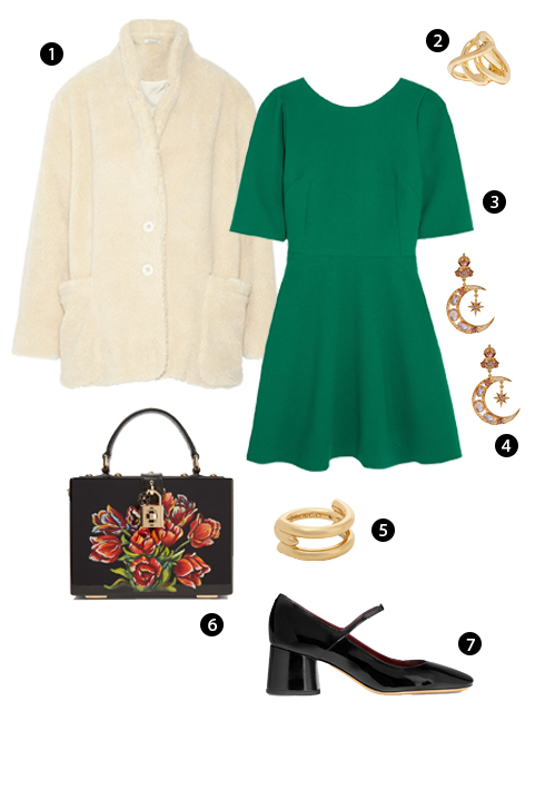 1. Mes Demoiselles, 2. Nhẫn Jennifer Fisher, 3. Dolce & Gabbana, 4. Percossi Papi, 5. Nhẫn Eddie Borgo, 6. Dolce & Gabbana, 7. Marc Jacobs.
