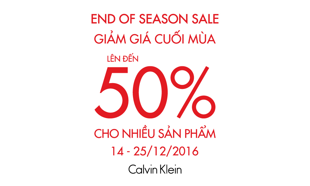 Chương trình End of season sales của CAlVIN KLEIN - 03