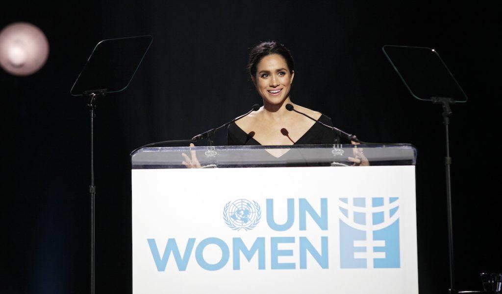 Nữ diễn viên Meghan Markle đã có bài phát biểu tại sự kiện của Liên hợp quốc.