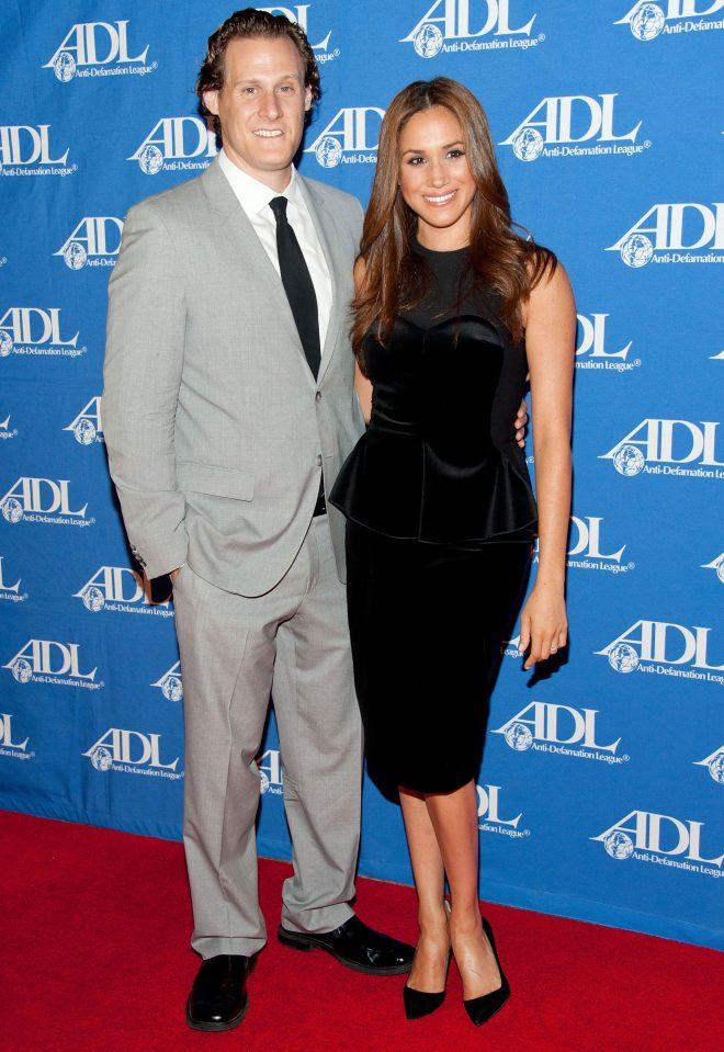 Nữ diễn viên Meghan Markle và chồng cũ.
