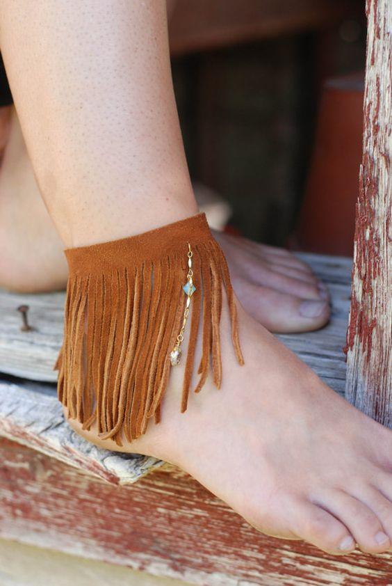 lắc chân nữ dây nối ngón - elle vn