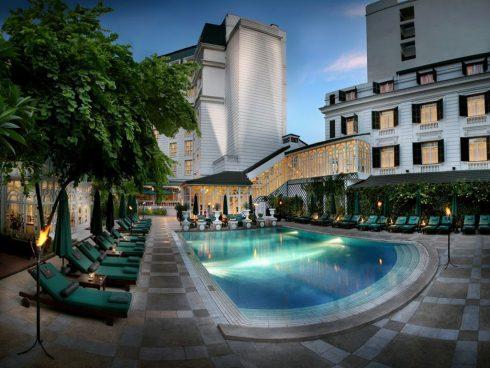 """Khách sạn còn được ví von là một """"resort"""" xanh mát giữa lòng thủ đô."""