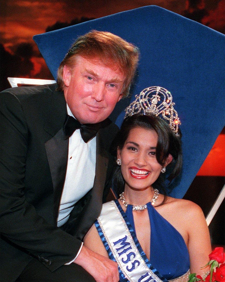 Donald Trump và Hoa hậu Hoàn vũ 1997 Brook Lee