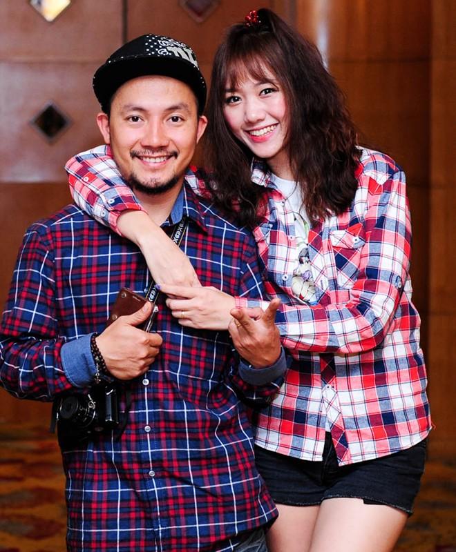 Hari Won và rapper Tiến Đạt.