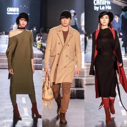 BST Canifa by Lê Hà mang đến vẻ đẹp quyến rũ, mềm mại trên nền chất liệu len lông cừu Úc.