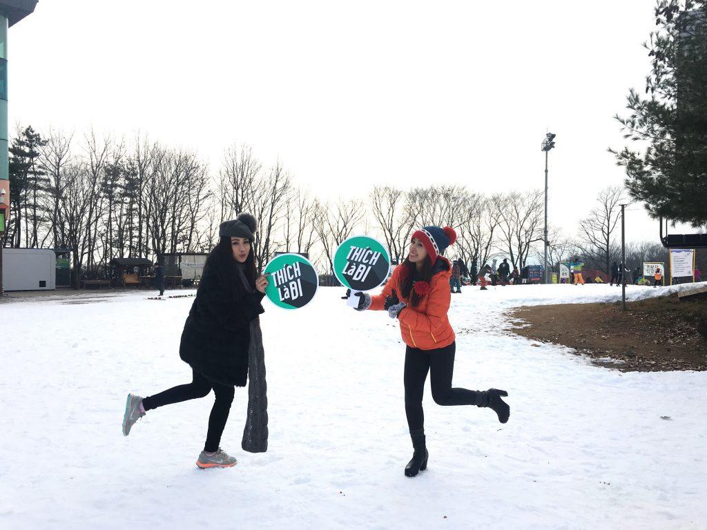 Én Vàng Phụng Yến và Diệp Lâm Anh: Mùa đông Hàn Quốc cực kỳ thú vị! - 2