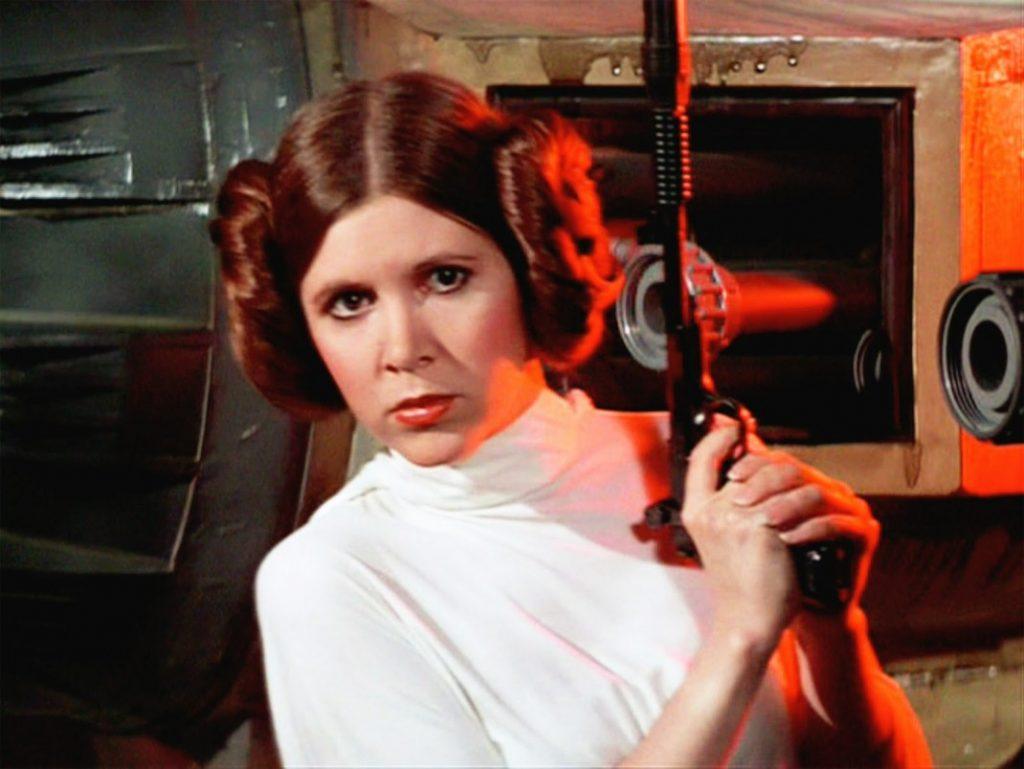 Nữ diễn viên Carrie Fisher trong vai công chúa Leia.