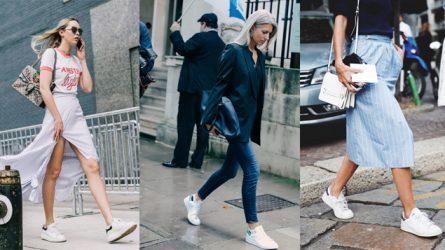 ELLE Style Calendar: Giày sneaker trắng (09/01 – 15/01)