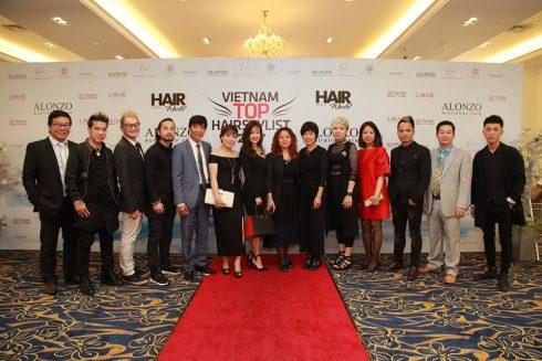 Ban tổ chức Vietnam Top Hair Stylist 2017.