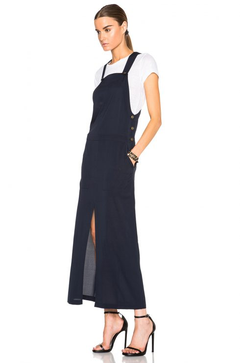 Alexander Wang Stretch-silk Overall Maxi Dress