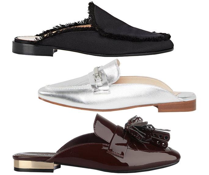 Giày loafer hở gót - ELLE VN