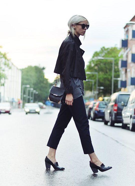 Giày loafer cao gót