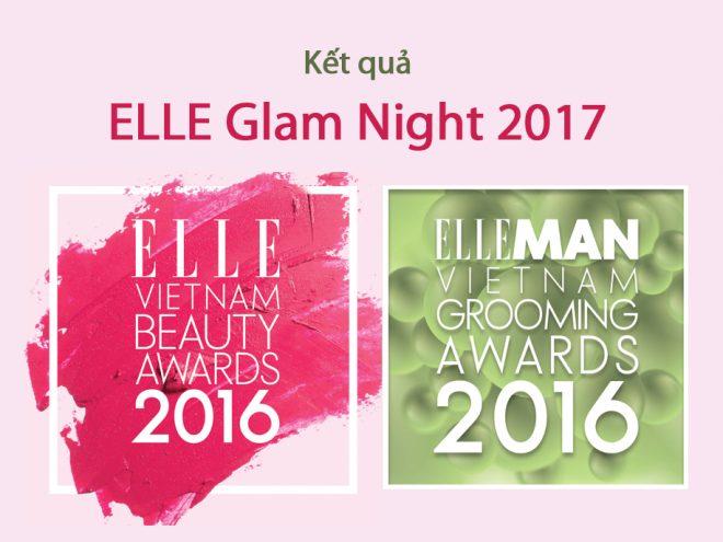 Kết quả bình chọn ELLE Vietnam Beauty Awards 2016