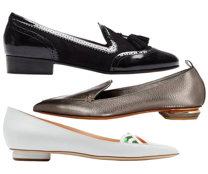 Giày loafer mũi nhọn