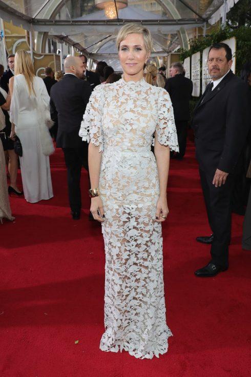 Kristen Wiig trong thiết kế của Reem Acra