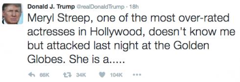 Donald Trump đáp trả Meryl Streep