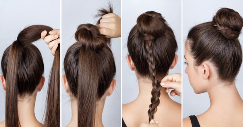 kiểu buộc tóc đẹp 01