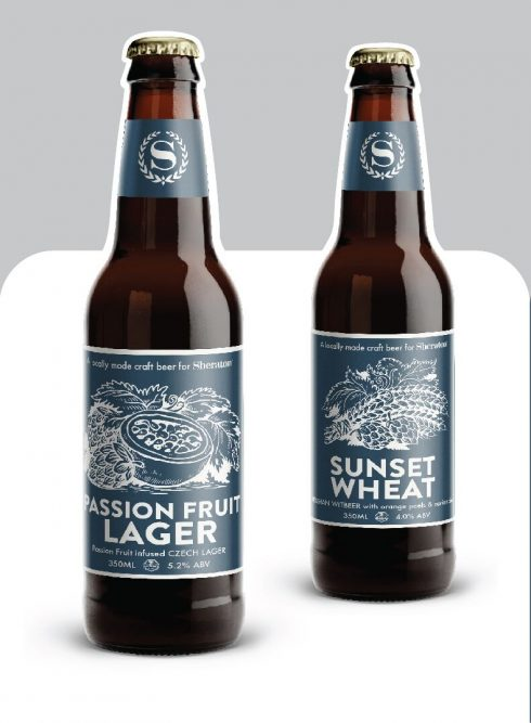 Hai loại bia thủ công mang thương hiệu Sheraton.