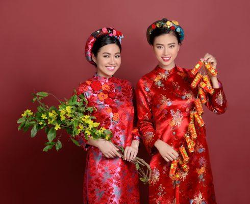 Áo dài cách tân - Ngô Thanh Vân & Lê Khánh