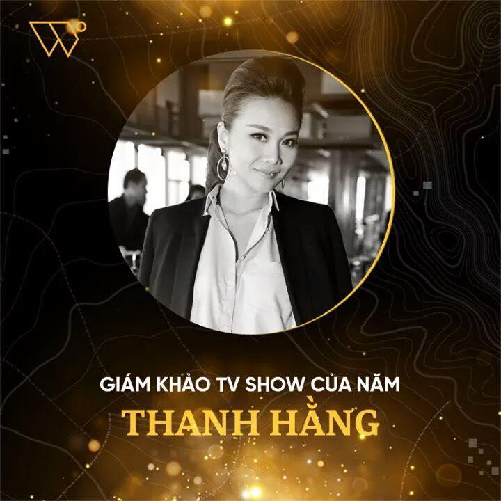 """Thanh Hằng đoạt giải """"Giám khảo TV show của năm""""."""