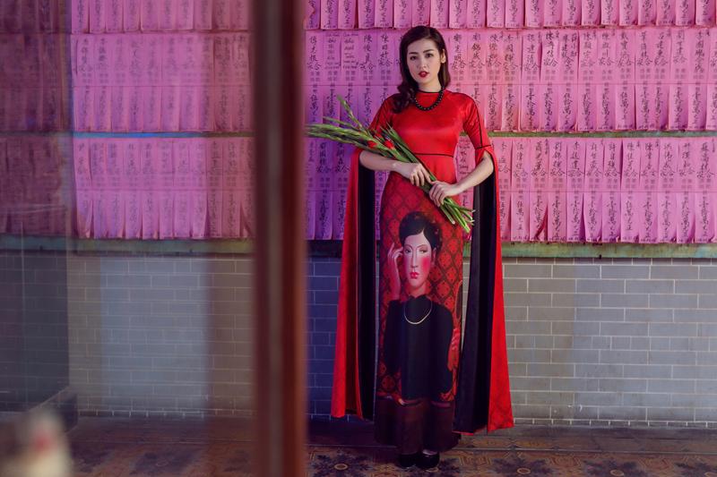 Áo dài của Adrian Anh Tuấn x Chinh - elle man 19