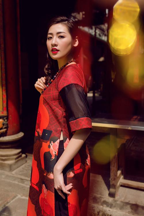Áo dài của Adrian Anh Tuấn x Chinh - elle man 2