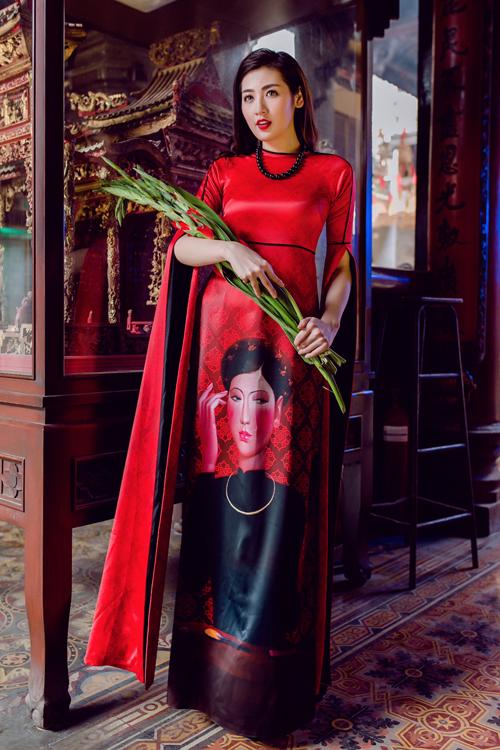 Áo dài của Adrian Anh Tuấn x Chinh - elle man 21
