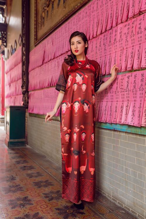 Áo dài của Adrian Anh Tuấn x Chinh - elle man 24