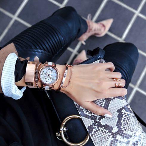 Đồng hồ kiểu dáng boyfriend phối cùng đồng hồ theo dõi hoạt đồng cơ thể