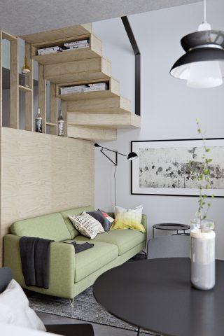 Cách bày trí nhiều trong một trong căn hộ diện tích giới hạn