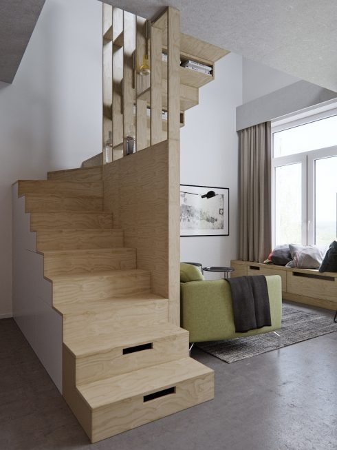 4.Stencil-and-block-wooden-staircase-living-space