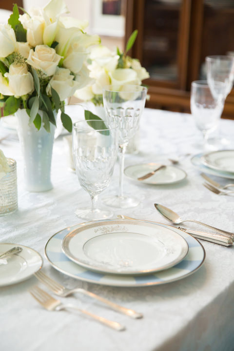Kate Middleton, sắp xếp bàn ăn - elle
