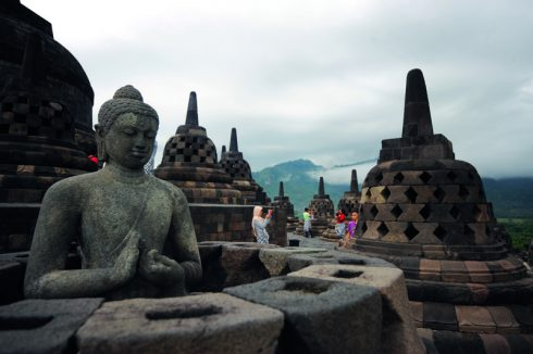 Đền Borobudur Ngọn đồi sen khổng lồ ở Indonesia 9