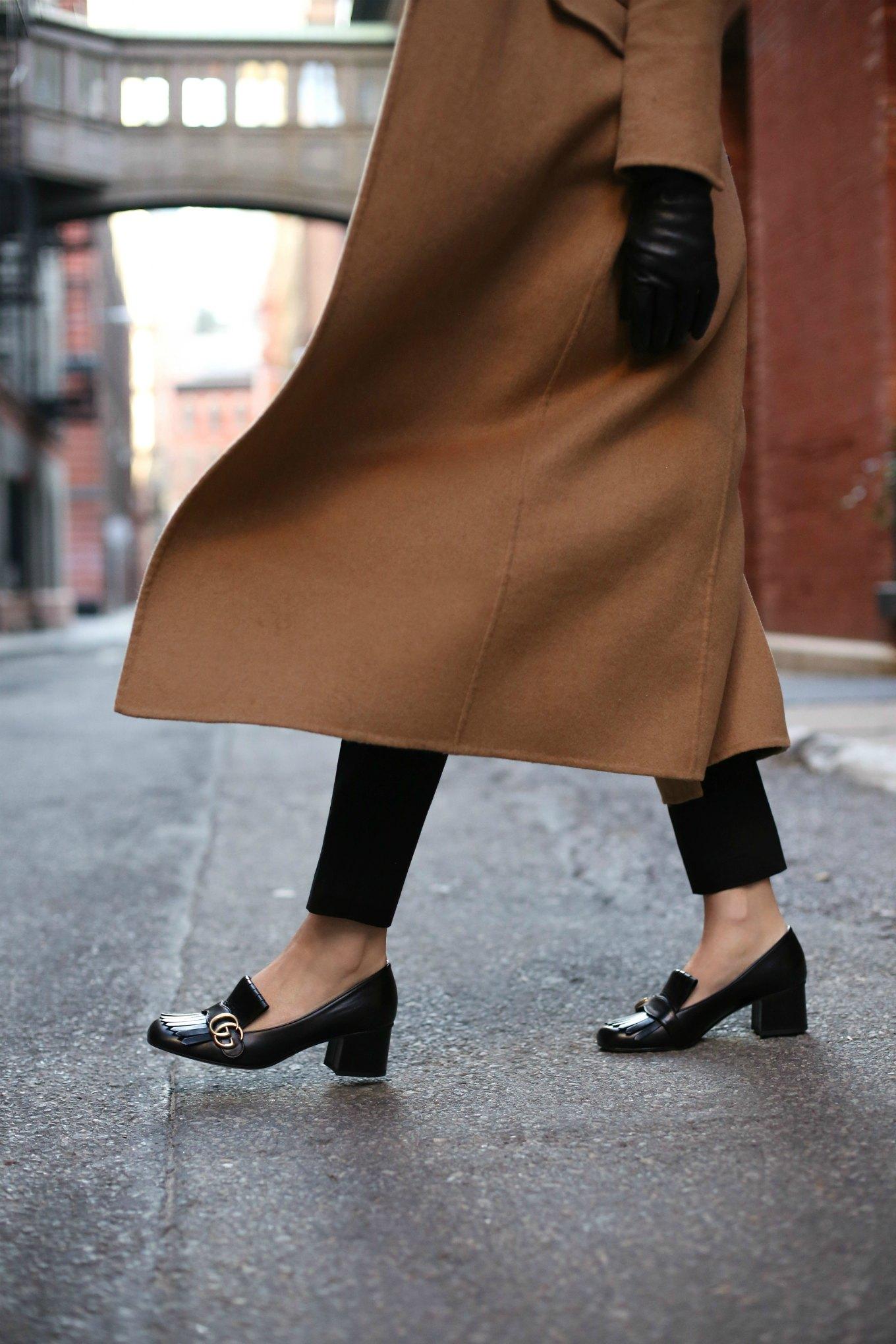giày lười cao gót