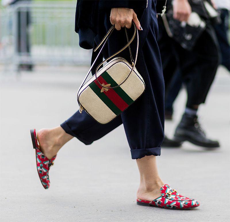 Gucci giày lười hoạ tiết