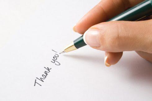 Cách viết một tấm thiệp cảm ơn hoàn hảo 2