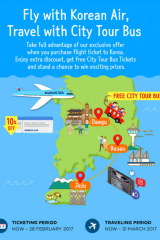 Chương trình City Tour miễn phí cho khách du lịch Hàn Quốc