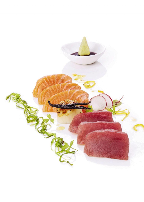 Gỏi cá hồi và cá ngừ mang hương vị Vanilla.