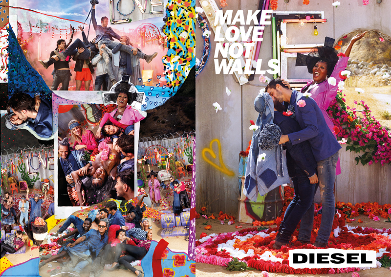 Diesel - make love not walls - elle vietnam