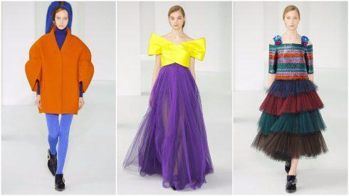 Xu hướng thời trang colour block trong BST của Delpozo
