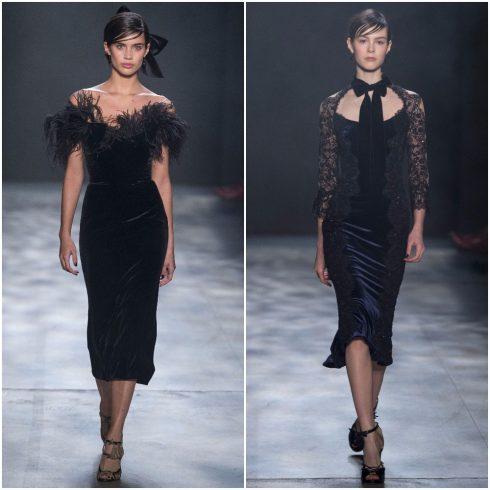 Những chiếc váy nhung dịu dàng của Marchesa