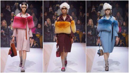 Những chiếc áo khoác phối lông rực rỡ của Anya Hindmarch