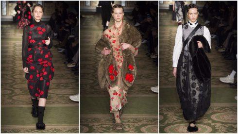 Những chiếc váy sheer thêu hoa đặc trưng của Simone Rocha
